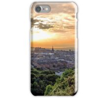 A burst of light over Edinburgh Castle iPhone Case/Skin
