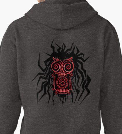 Tribal Zombie Head Pullover Hoodie
