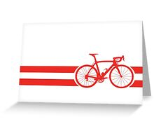 Bike Stripes Austria Greeting Card