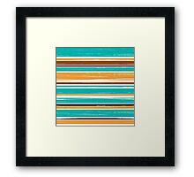 Seamless pattern of horizontal brush strokes. Framed Print