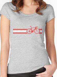 Bike Stripes Austria v2 Women's Fitted Scoop T-Shirt