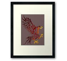 Shadey Hawk Framed Print