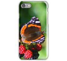 Butterfly on Wild Blackberries iPhone Case/Skin