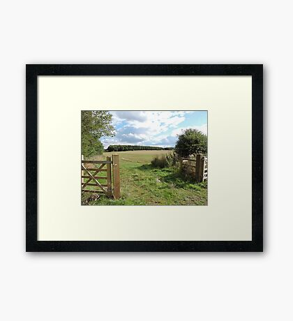 Open To Happiness Framed Print