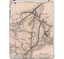 Vintage Boston and Montreal Railroad Map (1887) iPad Case/Skin