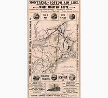 Vintage Boston and Montreal Railroad Map (1887) Unisex T-Shirt