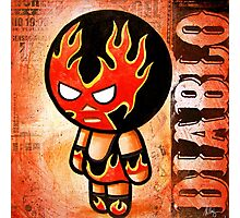 "Lucha BELLIES ""DIABLO "" POOTERBELLY Photographic Print"