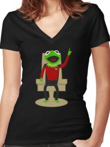 Jean Luc Pikermit Women's Fitted V-Neck T-Shirt