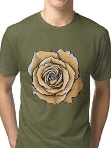 Beautiful rose flower Tri-blend T-Shirt