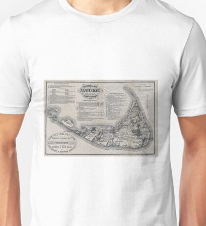 Vintage Map of Nantucket Unisex T-Shirt