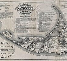 Vintage Map of Nantucket by BravuraMedia