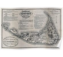 Vintage Map of Nantucket Poster