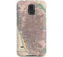 Vintage Map of Liverpool England (1890) Samsung Galaxy Case/Skin