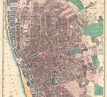 Vintage Map of Liverpool England (1890) by BravuraMedia