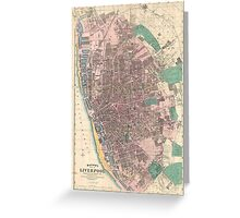 Vintage Map of Liverpool England (1890) Greeting Card