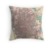 Vintage Map of Liverpool England (1890) Throw Pillow