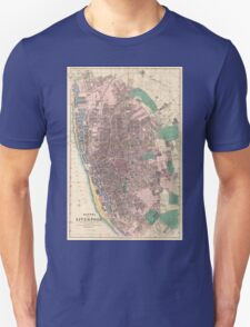 Vintage Map of Liverpool England (1890) T-Shirt