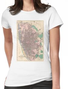 Vintage Map of Liverpool England (1890) Womens Fitted T-Shirt