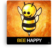"""""""BEE Happy"""" POOTERBELLY Canvas Print"""