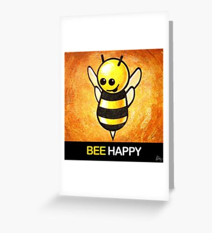 """""""BEE Happy"""" POOTERBELLY Greeting Card"""