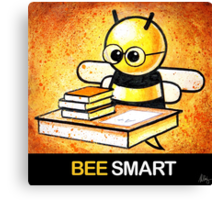 """""""BEE Smart"""" POOTERBELLY Canvas Print"""