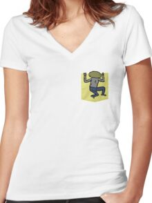 Clarence - The Big Lez Show Women's Fitted V-Neck T-Shirt