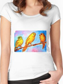 CANARY Women's Fitted Scoop T-Shirt