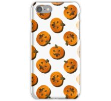 Pumpkin pattern on a white background for Halloween iPhone Case/Skin