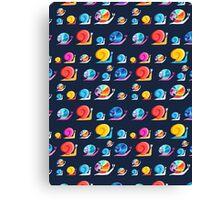 Graphic ornament colorful snail Canvas Print