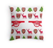 Arsenal 8-bit Holiday Sweater Throw Pillow