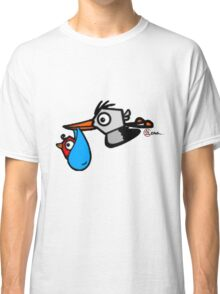 Storky with Little Birdy From Save My Little Birdy (EG-000009) Classic T-Shirt