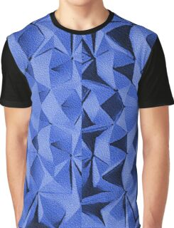 Blue fractals pattern, geometric theme Graphic T-Shirt