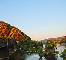 Rivers Merging at Harper's Ferry by bmorejd