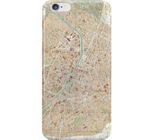 Vintage Map of Paris (1892) iPhone Case/Skin