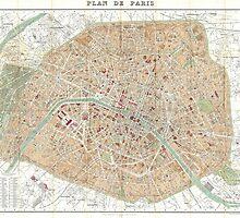 Vintage Map of Paris (1892) by BravuraMedia