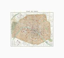 Vintage Map of Paris (1892) Unisex T-Shirt
