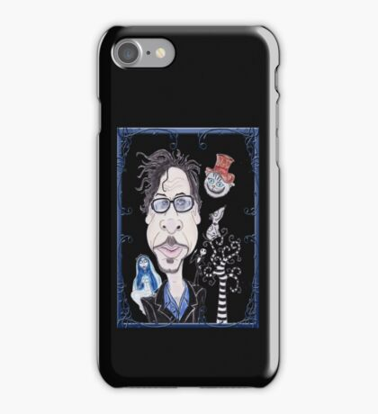 Dark Gothic Fantasy Movies Caricature Drawing iPhone Case/Skin