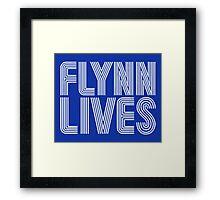 FLYNN LIVES - TRON MOVIE Framed Print