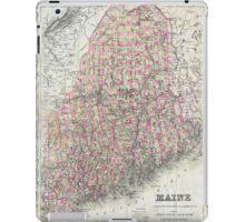 Vintage Map of Maine (1894)  iPad Case/Skin