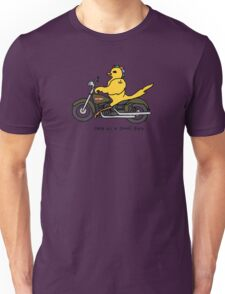 Free as a biker bird - full color, with black letters Unisex T-Shirt