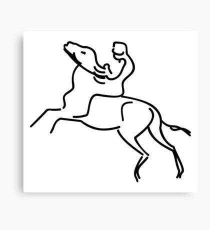 Jockey on a Horse VRS2 Canvas Print