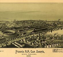Vintage Pictorial Map of Altoona PA (1895) by BravuraMedia