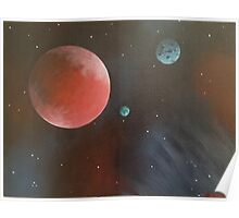 Planets in Space #3 Painting Poster
