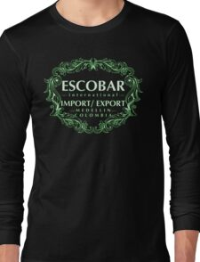 Escobar Import and Export White Mint Glow Long Sleeve T-Shirt