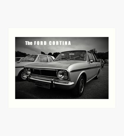 The Ford Cortina: 1960s Retro Art Print