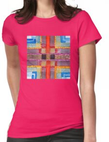 ERQ#2 - Abstract Watercolor by Dan Vera Womens Fitted T-Shirt