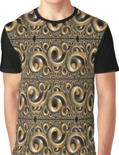 Kringel Muster in gold CB Graphic T-Shirt