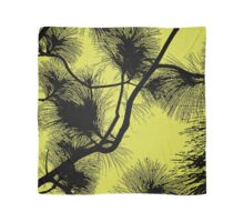 Desert flora, abstract pattern, floral design, black and yellow Scarf