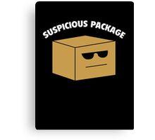 Suspicious Package Canvas Print