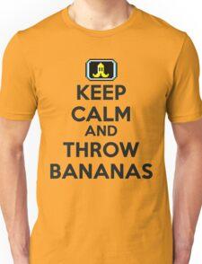 Keep Calm and Throw Bananas Unisex T-Shirt